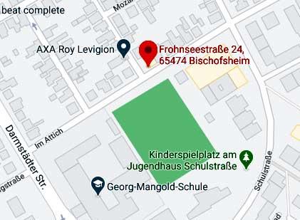 Anfahrt Vinothek Bischofsheim